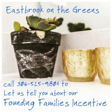 Thinking about building in Regina's east end?  Then consider Eastbrook on the Greens, a master-planned community complete with parks, paths, an urban plaza, local coffee shops and cafés.  For a limited time we are offering cash incentives to build! For